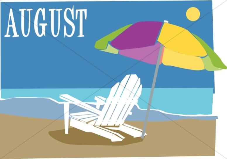 Beach Chair and Ubrella In August