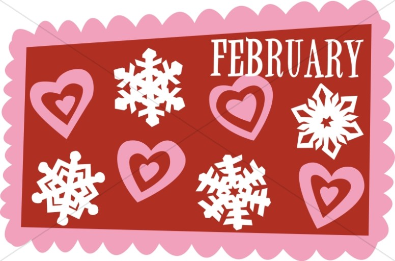 Hearts and Snowflakes in February