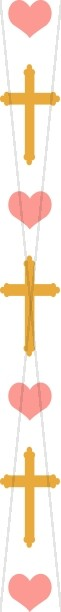Heart and Gold Cross Column