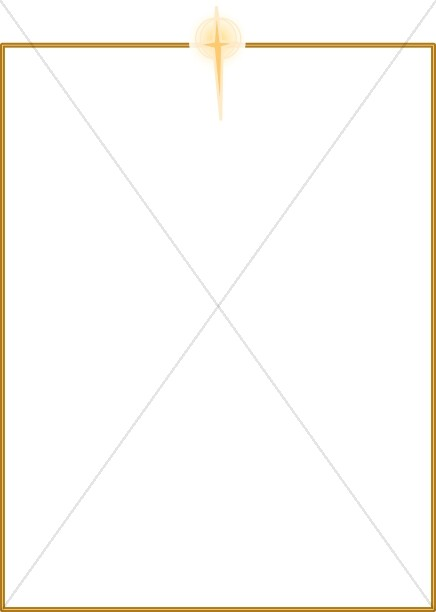 Simple Gold Frame with Cross