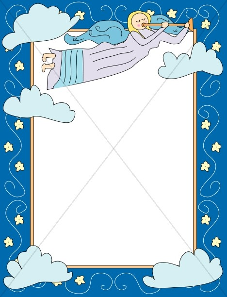 Cartoon Angel Frame | Religious Borders