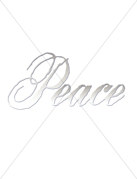 Peace Word Art   Silver