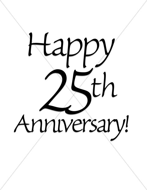 Happy 25th Anniversary! Wordart