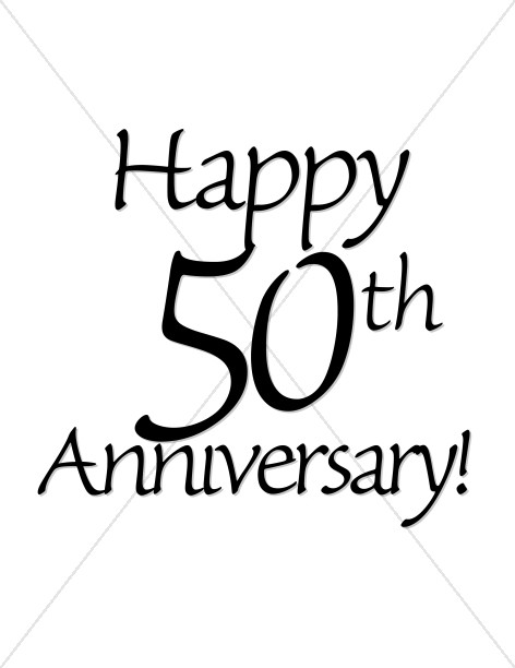 Happy 50th Anniversary! Wordart