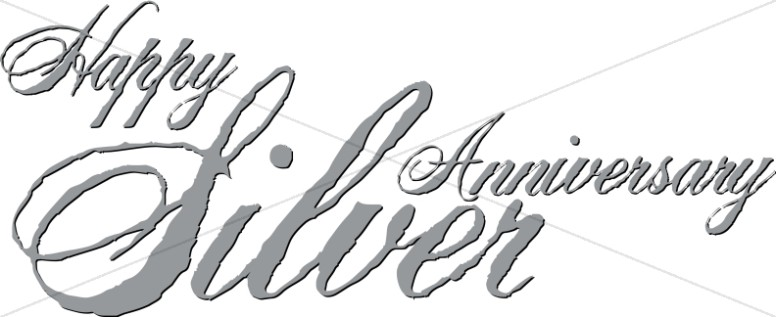 Silver Anniversary script with Antique Effect