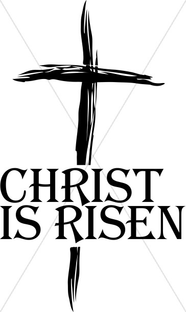 christ is risen clipart cross word art rh sharefaith com christ is risen clipart free he is risen clip art images