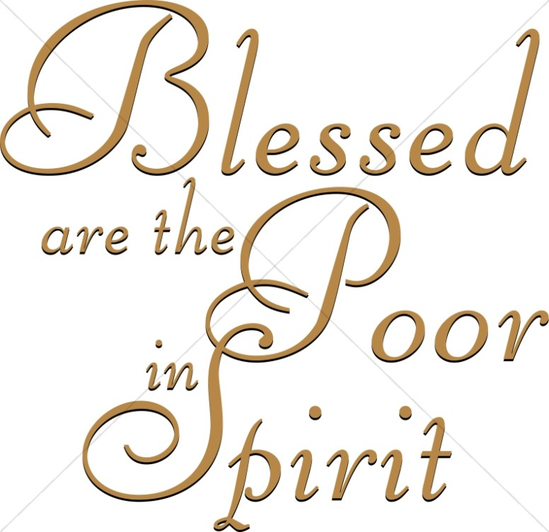 Blessed are the Poor in Spirit in Brown