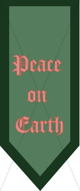 Peace on Earth Green Banner