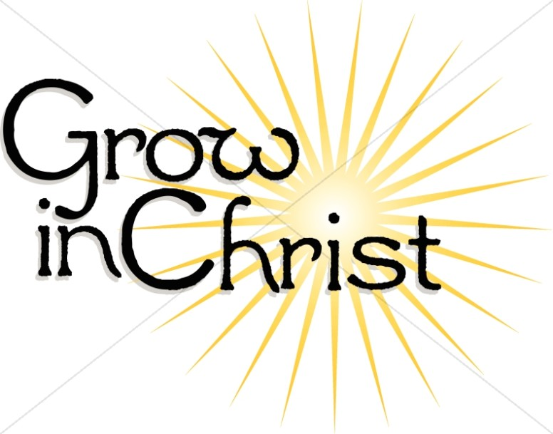 Grow in Christ Sunburst