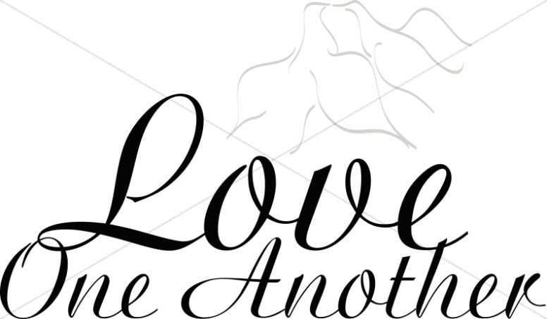 Single Line Word Art : Religious love word art