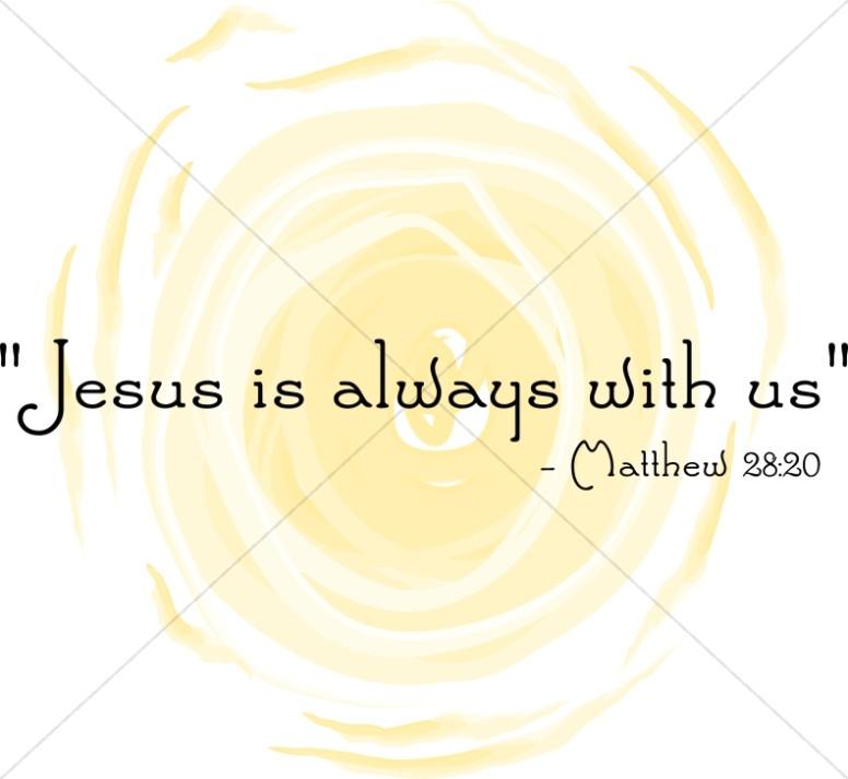 Sunshine Symbolizes that Jesus is Always With Us