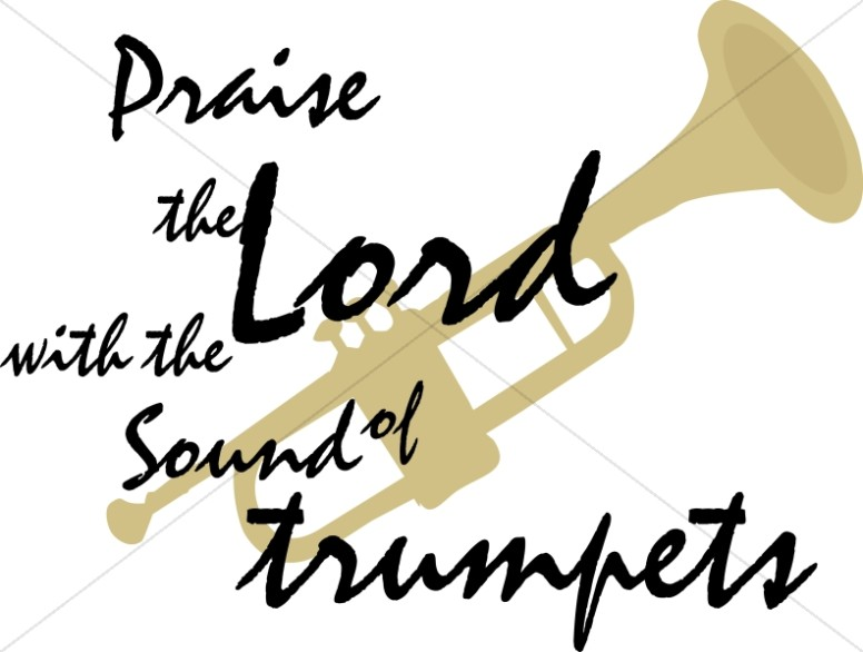 Praise the Lord with Trumpet Detail