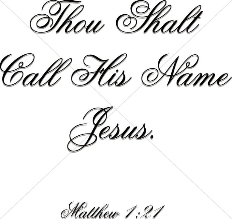 Thou Shalt Call His Name Jesus