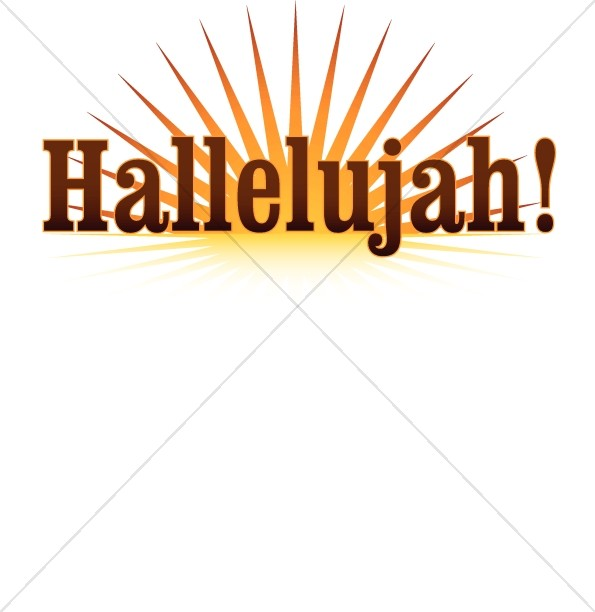 Hallelujah Sunrise Inspirational Word Art