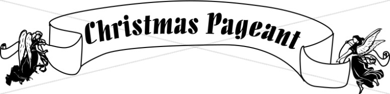 Christmas Pageant Banner Carried by Angels