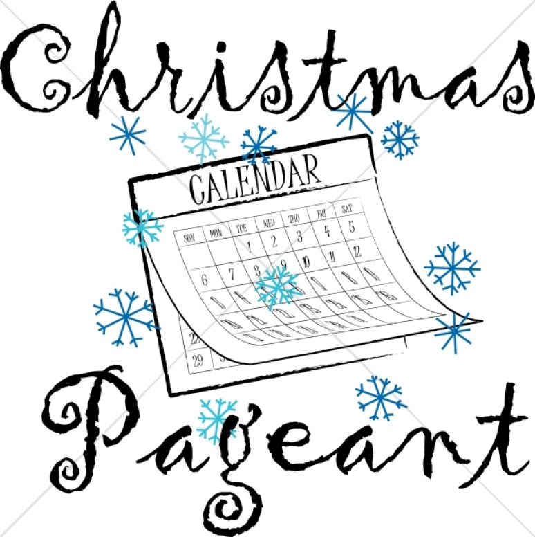 Christmas Pageant Calendar