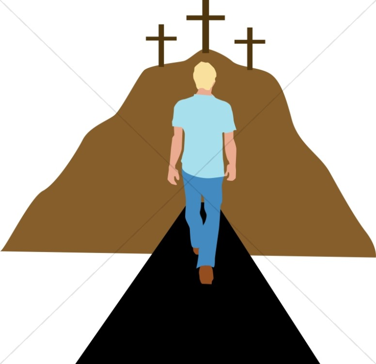 Man Walking Towards Repentance