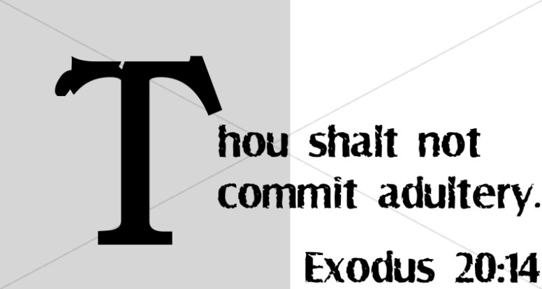 Image result for Exodus 20 vs. 14 – Thou shalt not commit adultery.