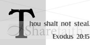 Thou Shalt Not Steal | Scripture Word Art