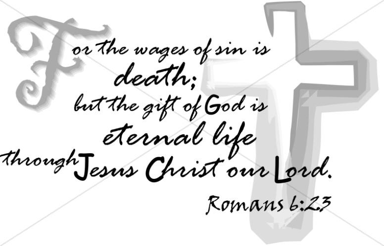 Eternal Life Through Jesus Christ | Scripture Word Art