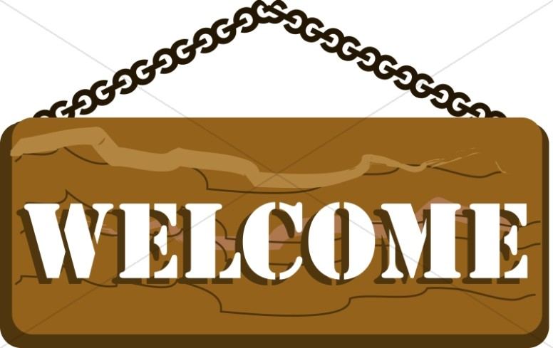 Church Camp Welcome Sign
