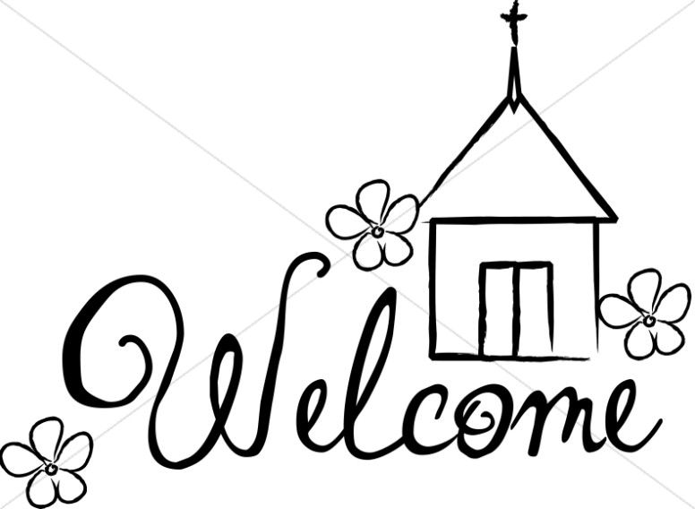 Sunday Service Welcome Sign