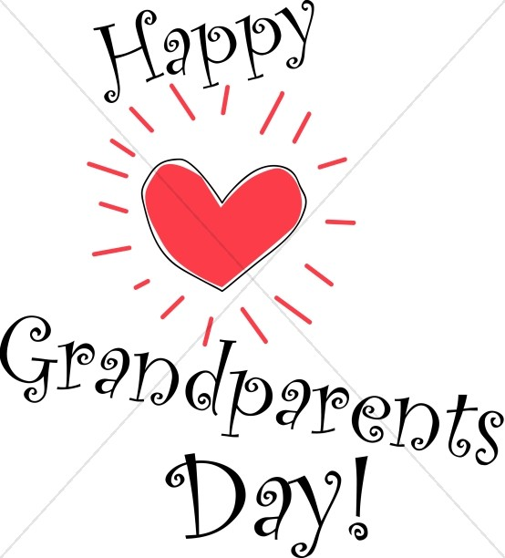 Happy Grandparent's Day with Shining Heart