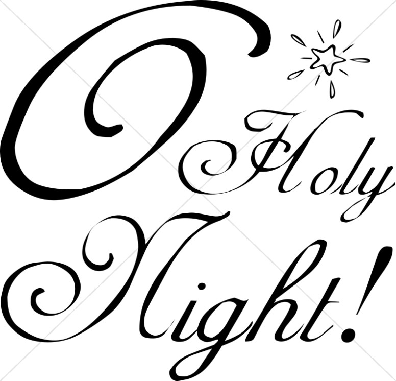 Black and White Holy Night and Star
