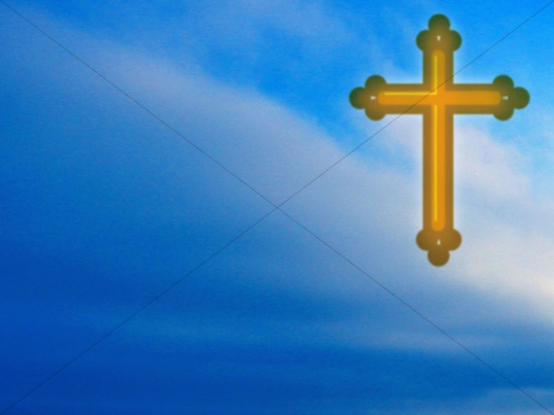 Ornate Cross on Blue Sky