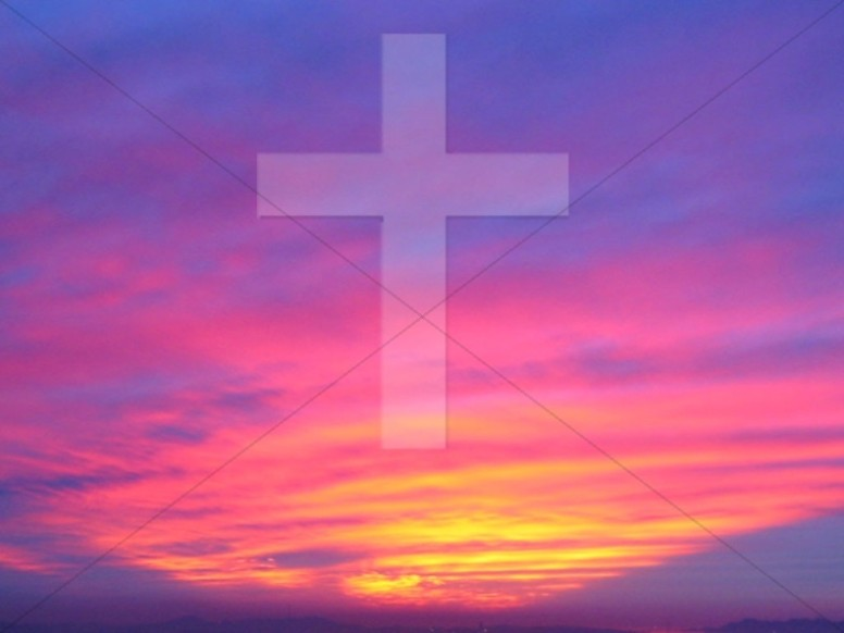 Sunset with Cross