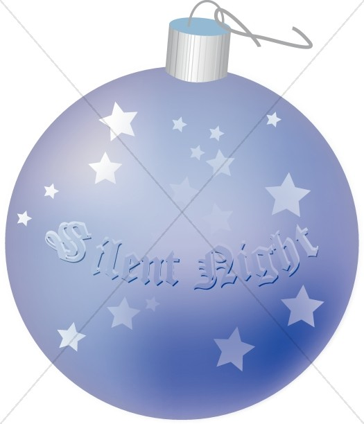 Round Silent Night Ornament