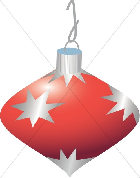 Red Christmas Ornament with Stars