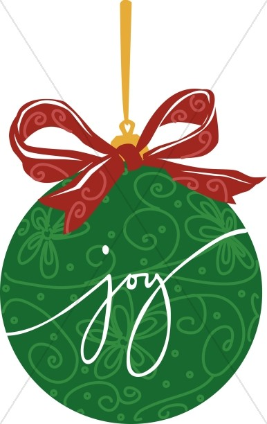 Green JOY ornament
