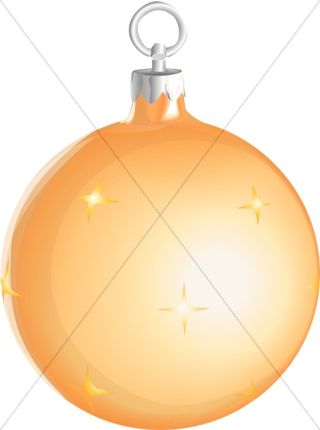 Shiny Gold Christmas Ornament