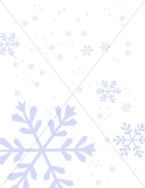 Subtle Blue Snowflake Background
