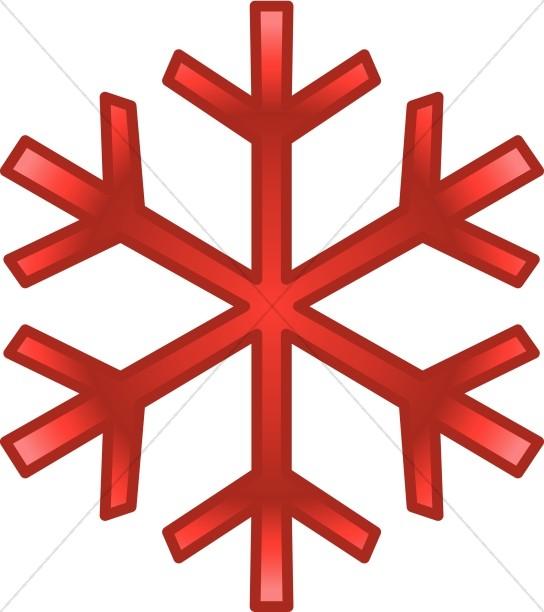 Red December Snowflake