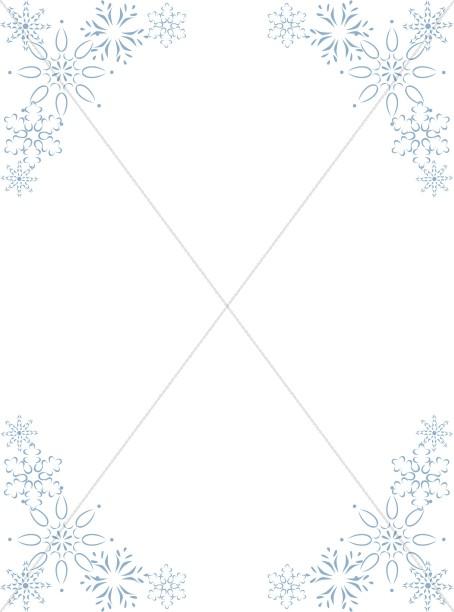 Elegant Snowflake Corners Frame