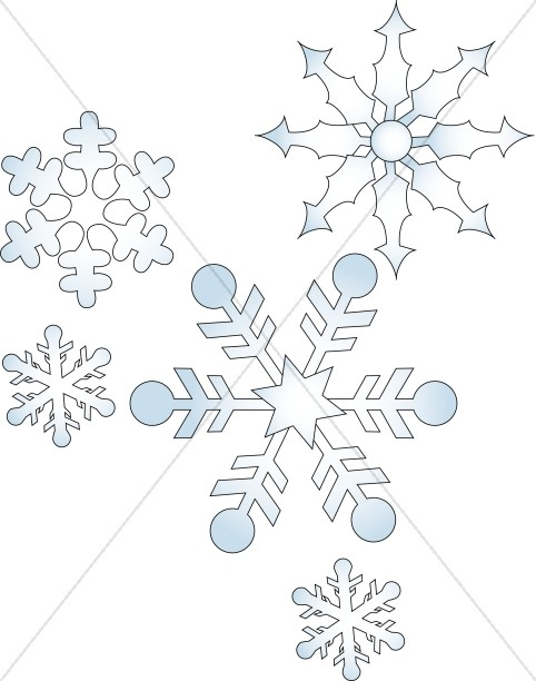Geometric Falling Snowflakes