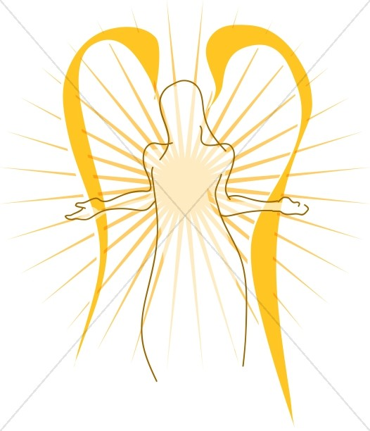 Female Angel Silhouette | Angel Clipart