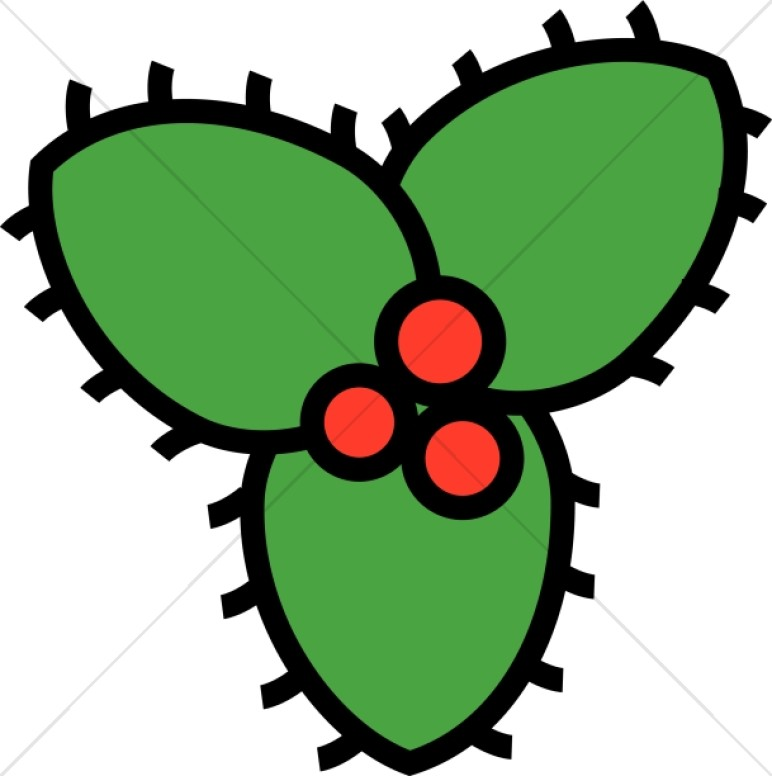 Cartoon Holly Leaves