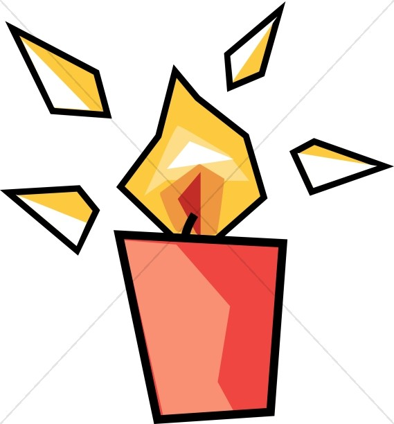 Modern Art Candle