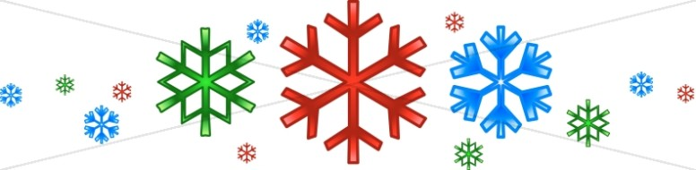 Modern Snowflakes Divider