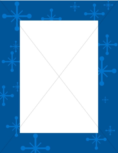 Blue Frame with Star Accents