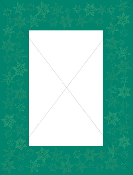 Green Frame with Snowflake Overprint