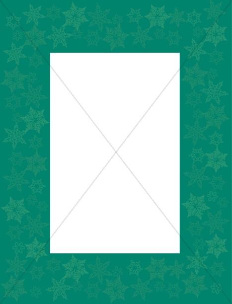 Green Frame with Snowflake Overprint