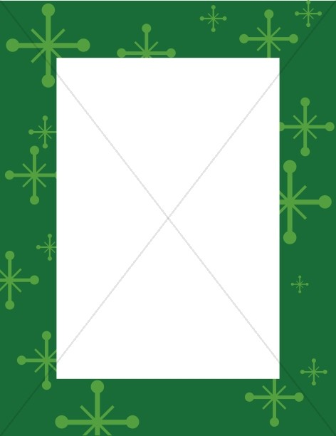 Green Frame with Star Accents