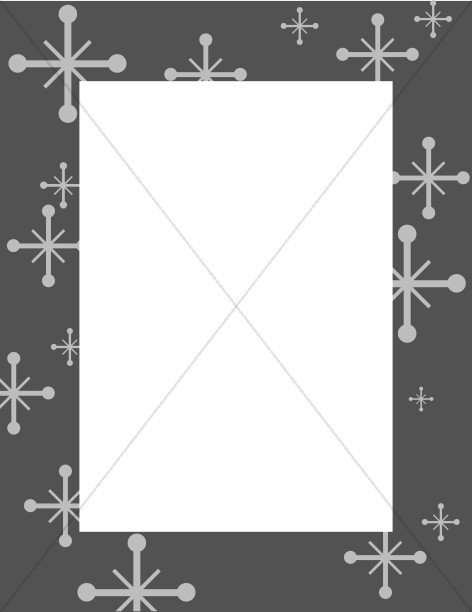 Gray Frame with Star Accents