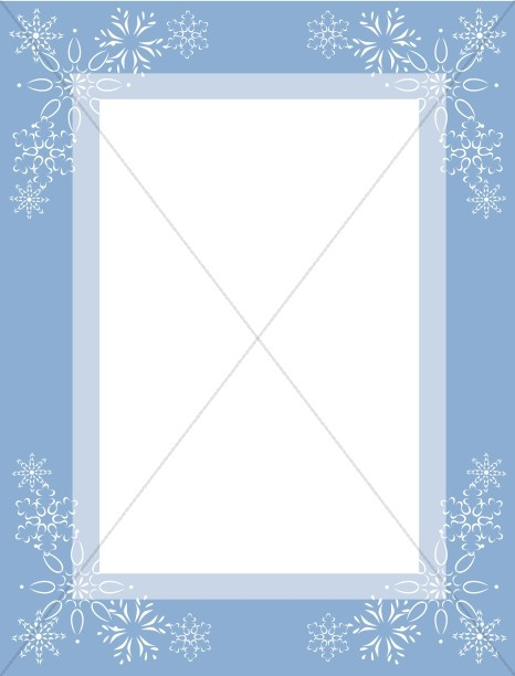 Two Tone Blue Frame with Snowflakes