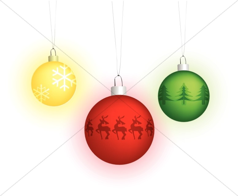 Three Hanging Ornaments
