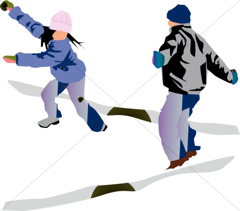 snowball fight christian children clipart rh sharefaith com